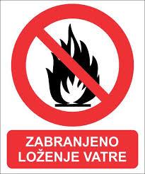 Obavijest o zabrani loženja vatre za vrijeme žetve