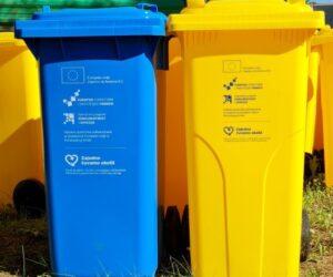 Obavijest o podjeli kanti za prikupljanje papira i plastike